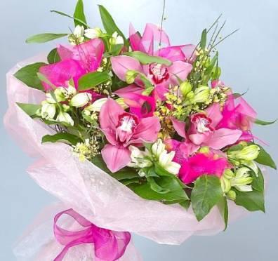 фотография розовые орхидеи