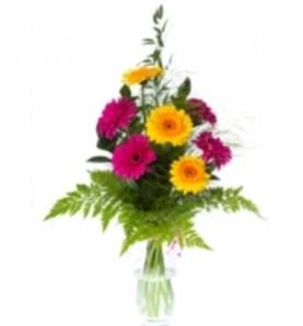 букеты цветов до 1000 рублей москва, яркие герберы фото