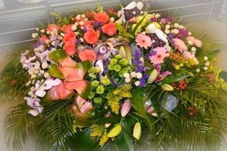 корзины из живых цветов фото
