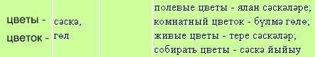 Цветы на башкирском языке, цветок на башкирском язке, цветы на разных языках мира