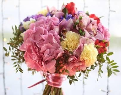 история флористики, букет цветов