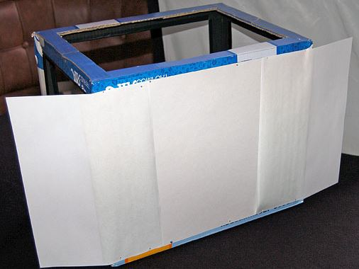 ящик для растений с отражателем из белой бумаги