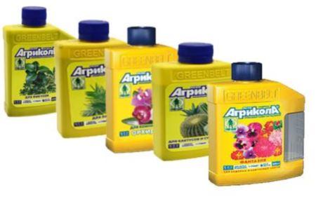 Жидкие удобрения для комнатных цветов